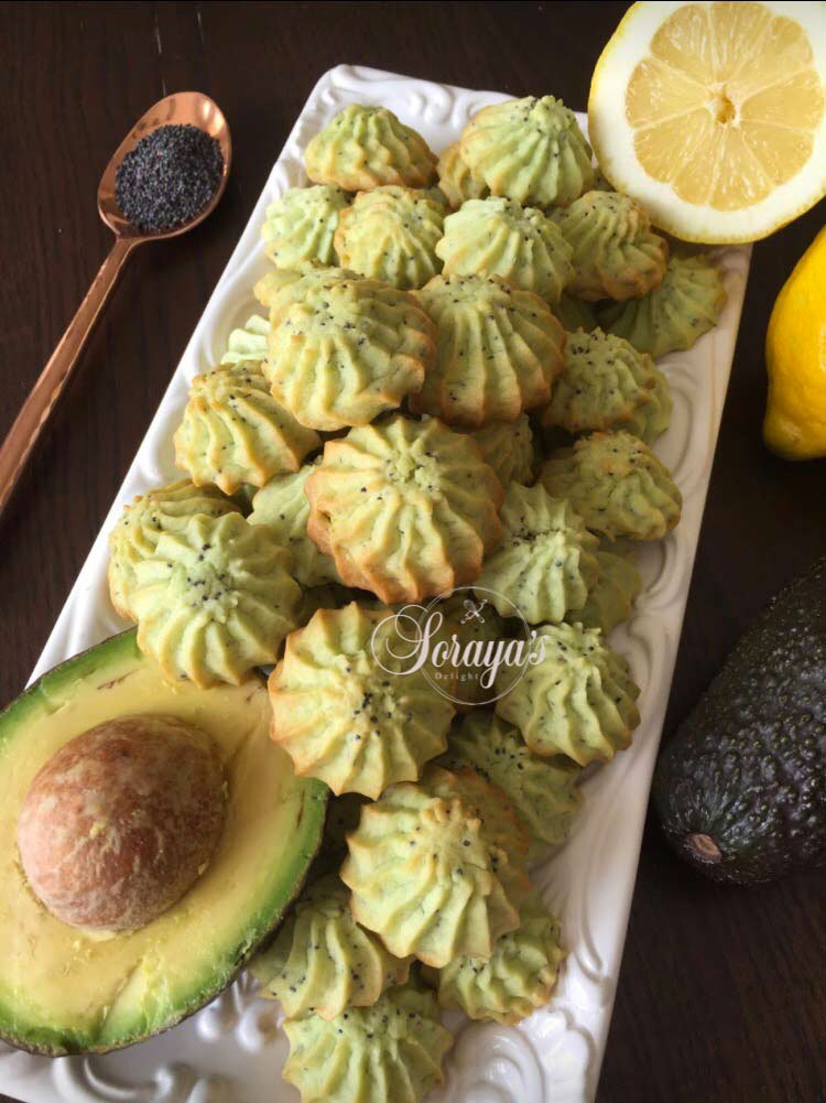 Avocado & Poppy Seed cookies