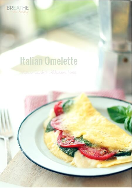 Gluten Free, Low Carb Cheesy Italian Omelette