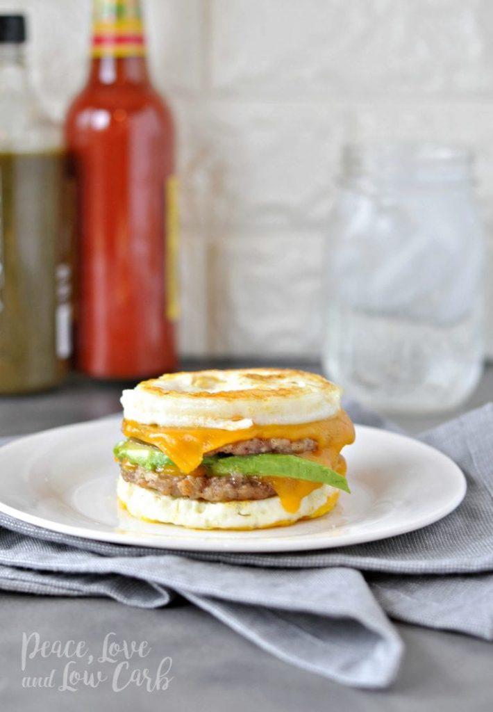 Keto McMuffin Sausage & Egg Breakfast Sandwich