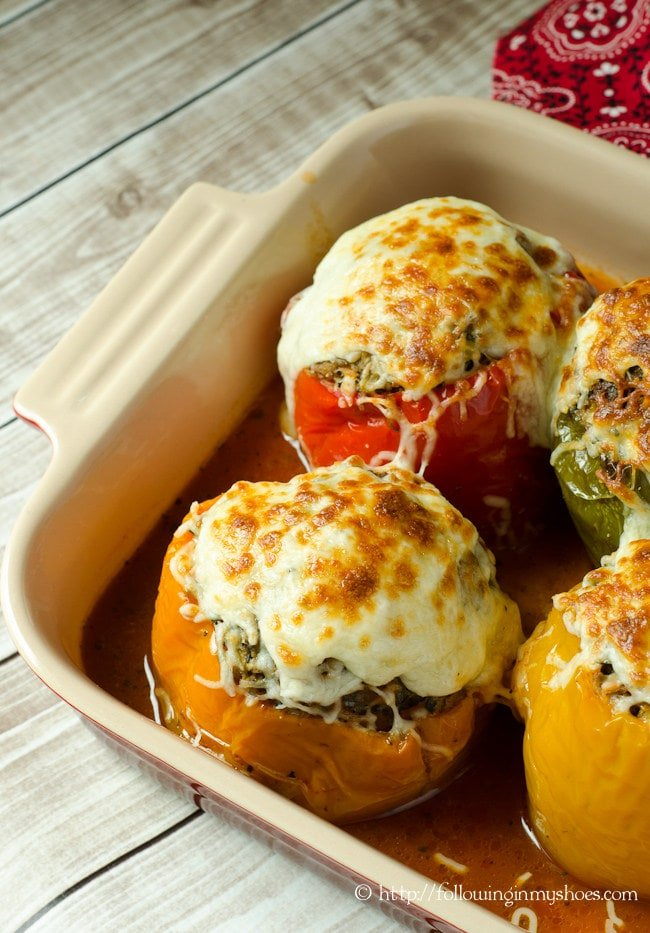 Paleo Italian Stuffed Peppers
