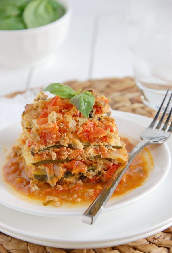 Zucchini Crock Pot Paleo Lasagna