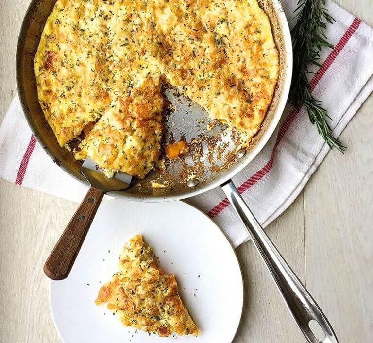 Bacon, Gruyere, and Butternut Squash Frittata