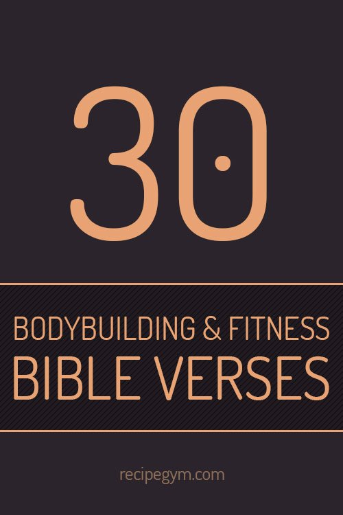 Bodybuilding and fitness bible verses