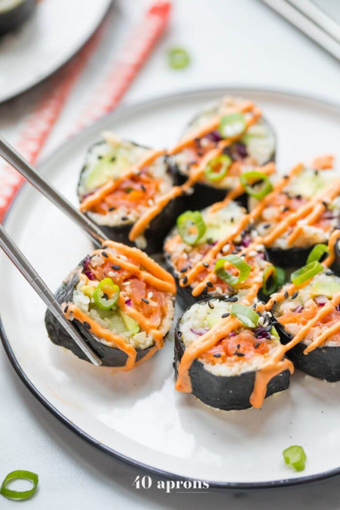 Spicy Salmon Roll - Whole30 Sushi