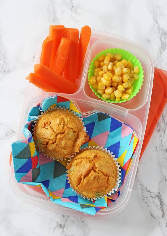 Sweetcorn & Carrot Muffins