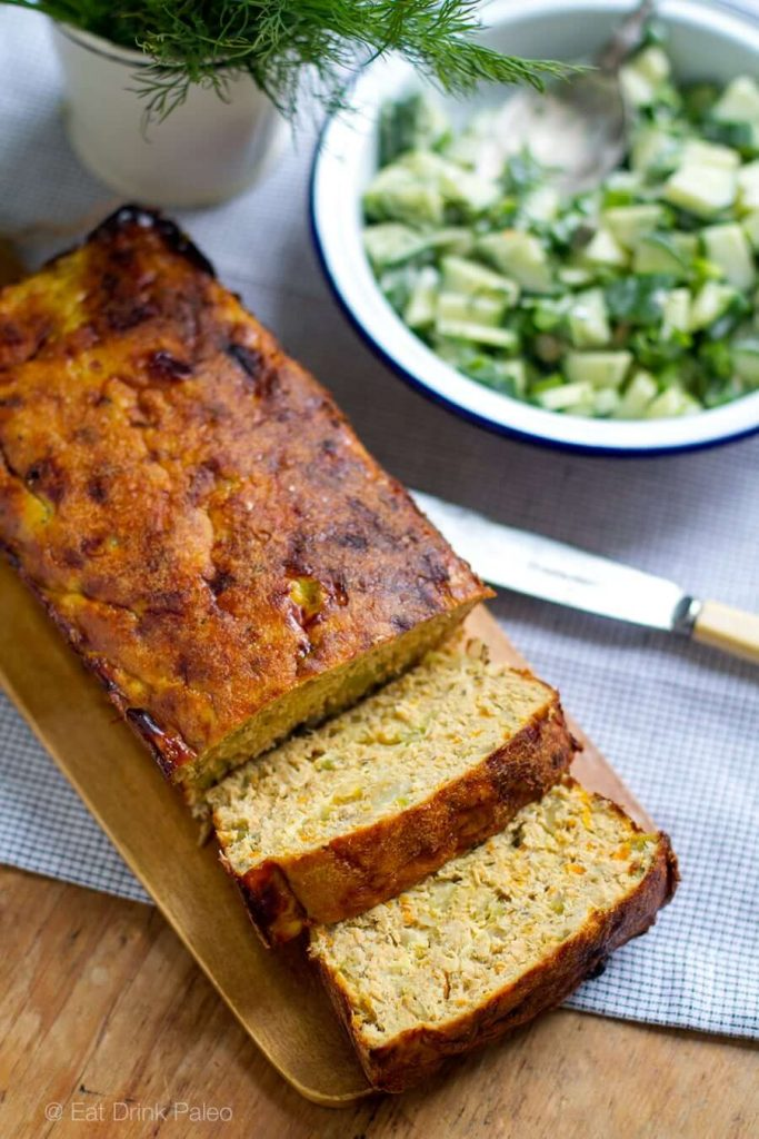 Baked Salmon Loaf With Dill & Cucumber Salad