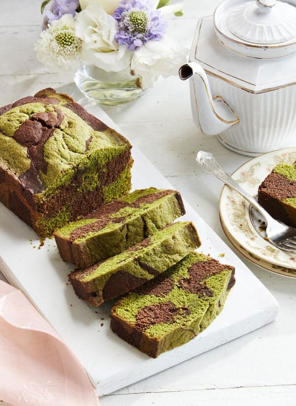 Chocolate Matcha Swirl Pound Cake