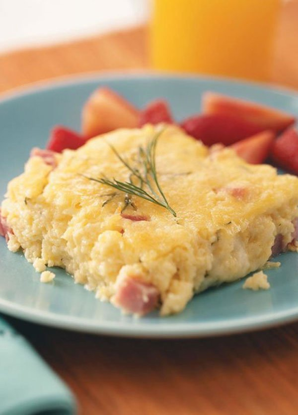 Ham & Cheese Egg Bake