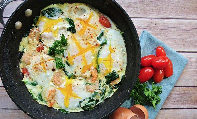 Spicy Shrimp Omelette