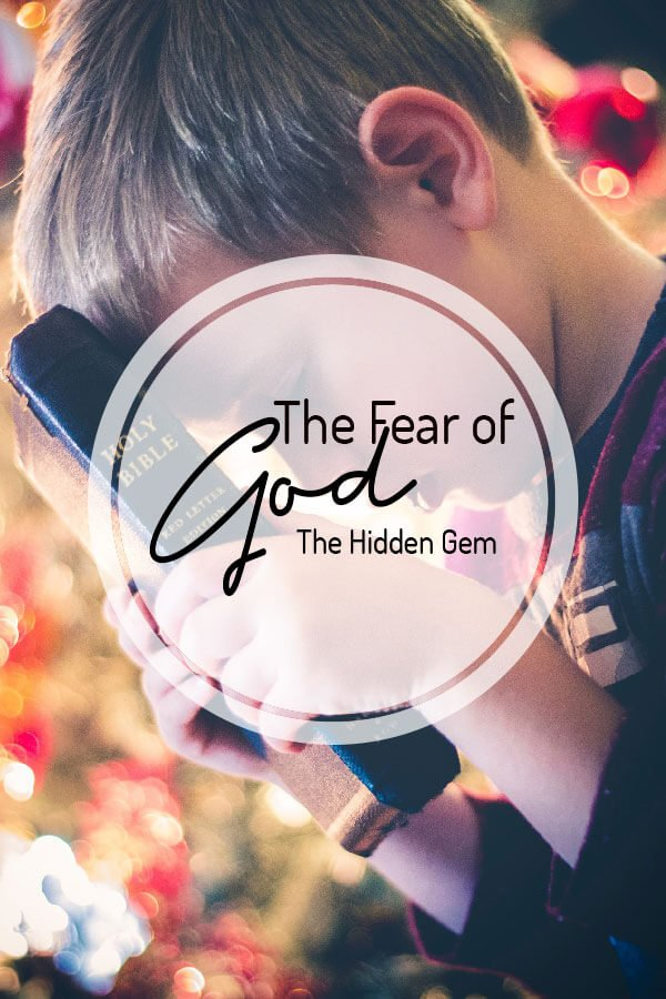 The fear of God is beginning of wisdom
