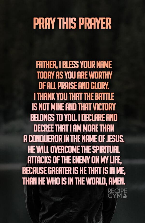 pray this prayer