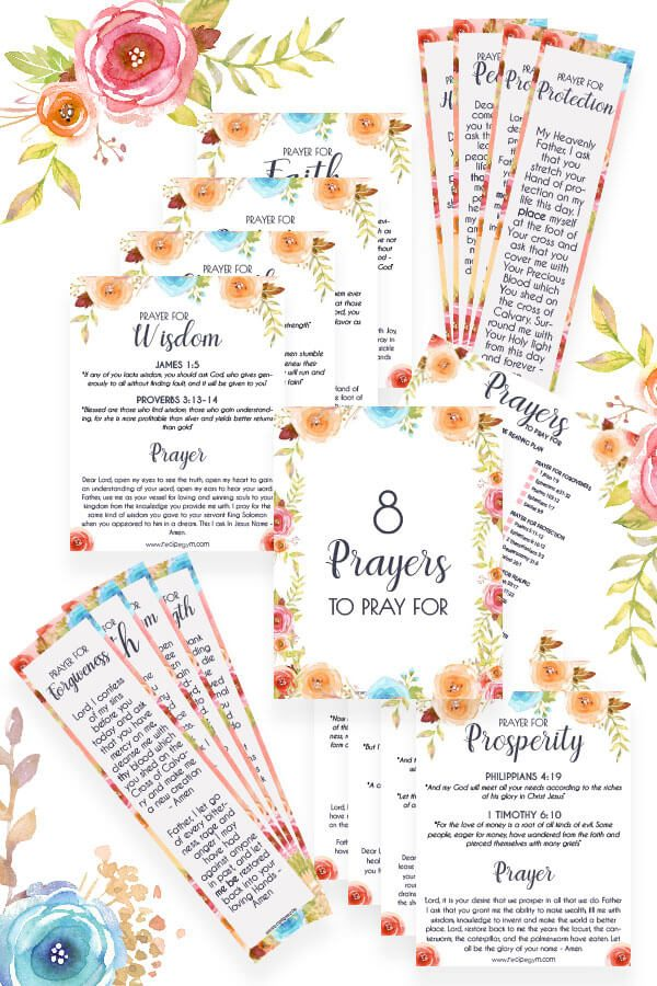 8 Printable prayers cover
