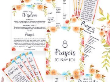 8 Printable prayers covers