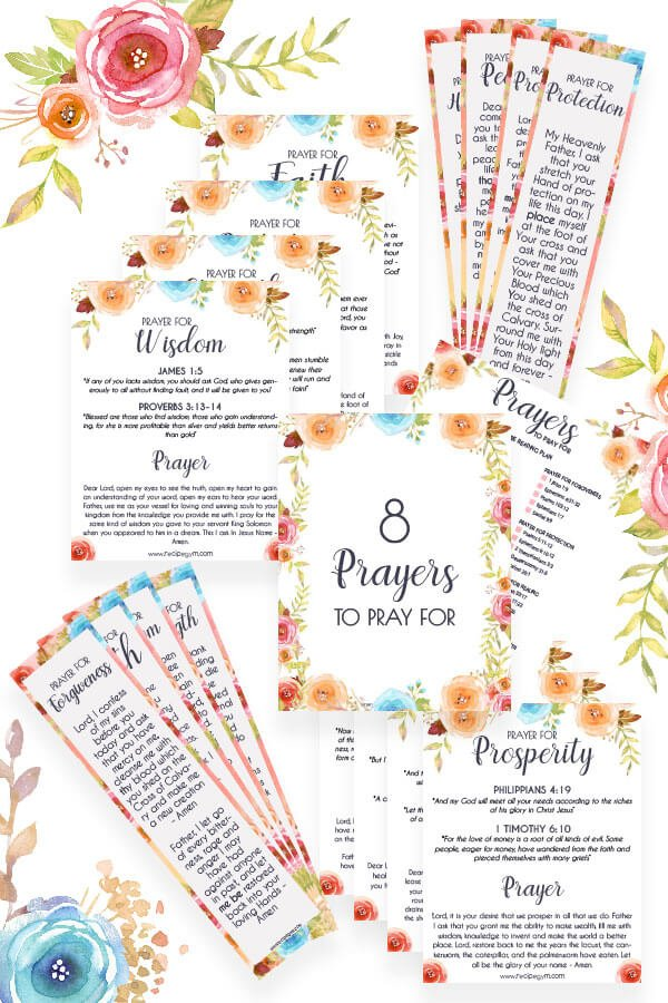 8 Printable prayers covers
