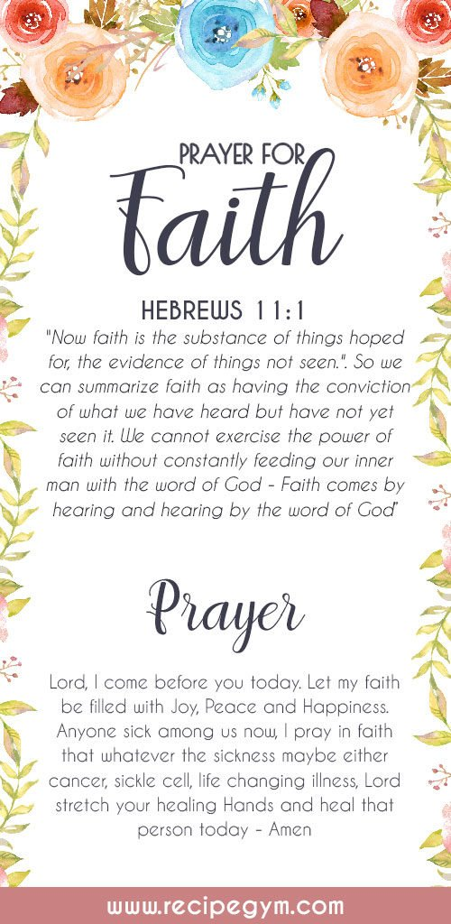 Prayer for faith