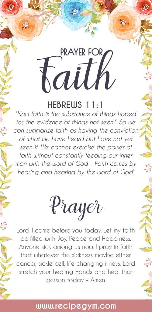 Prayer for faith
