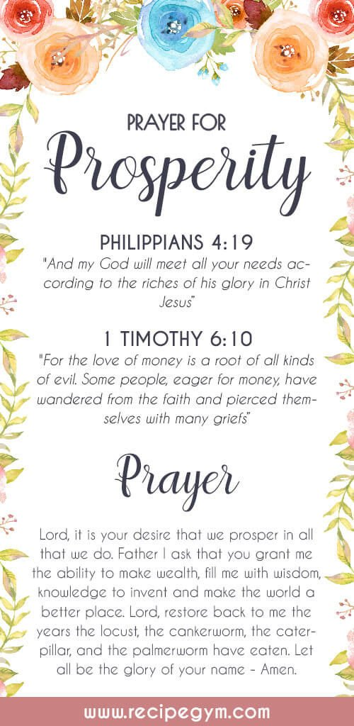 Prayer for prosperity