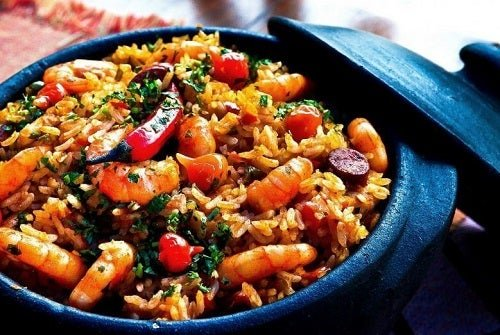 Chinese rice recipe with shrimp