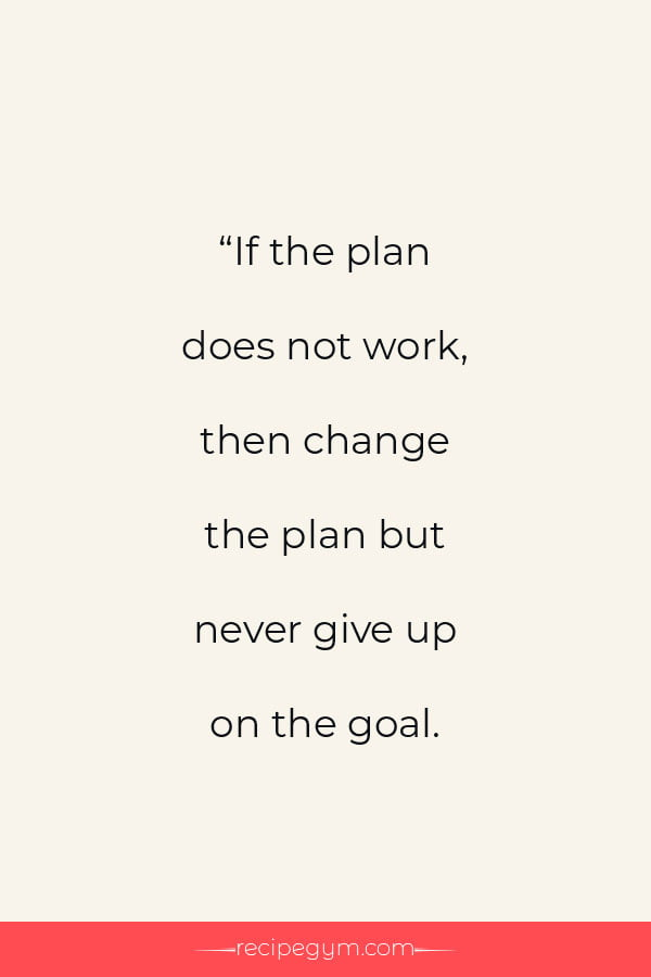 Never give up on your goals