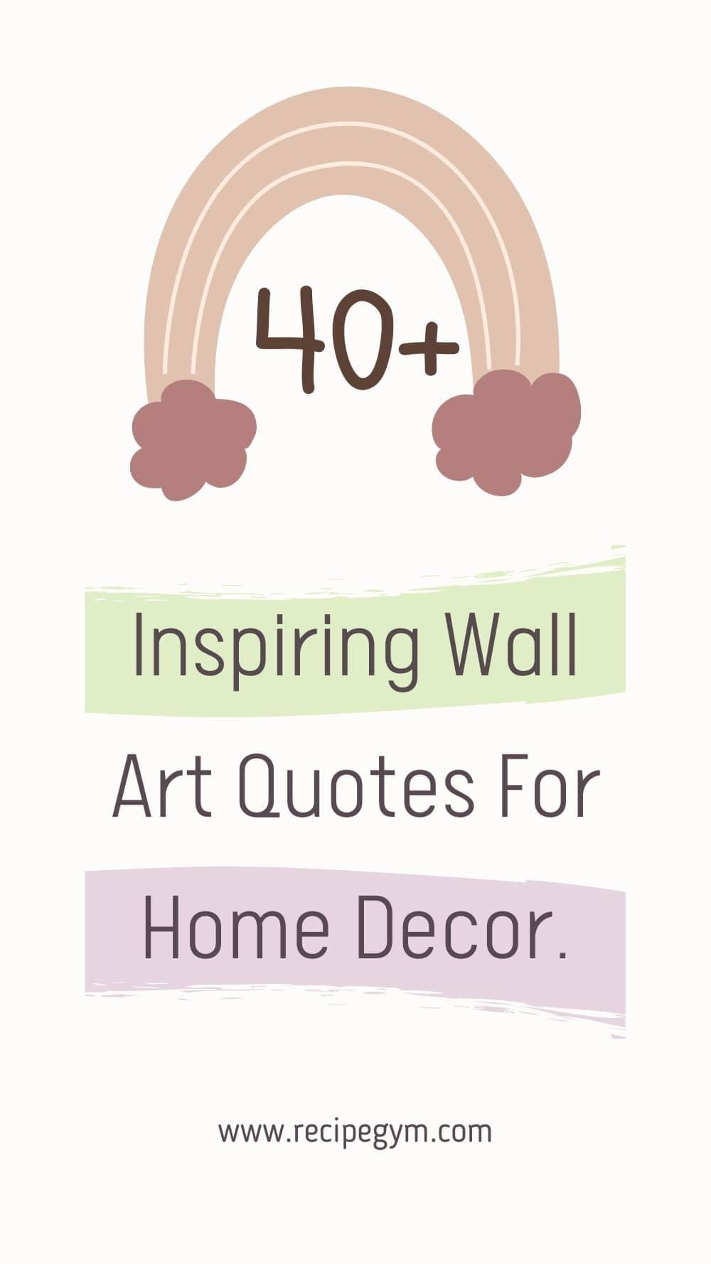Inspiring wall art quotes for home decor