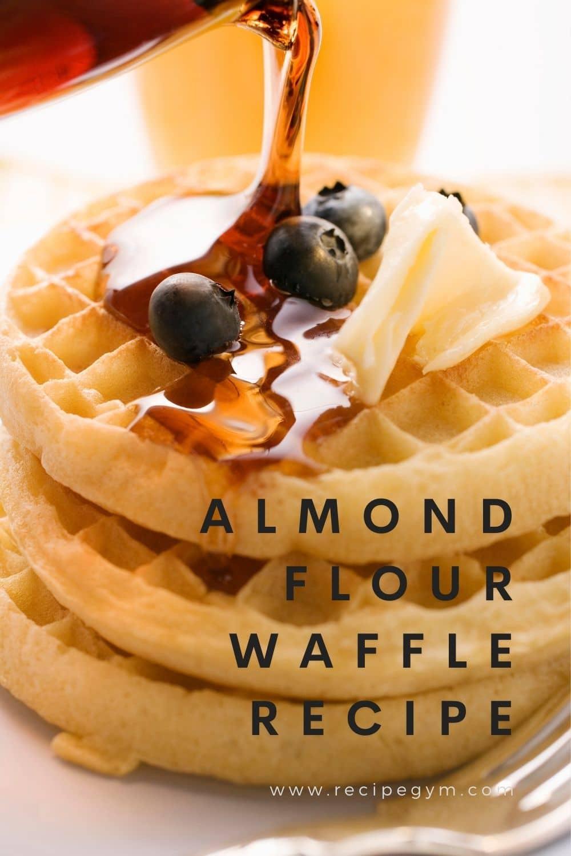 Almond Flour Waffle Recipe pin it