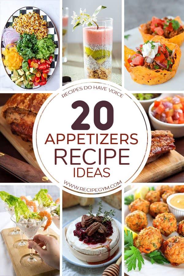 20 appetizers recipe ideas