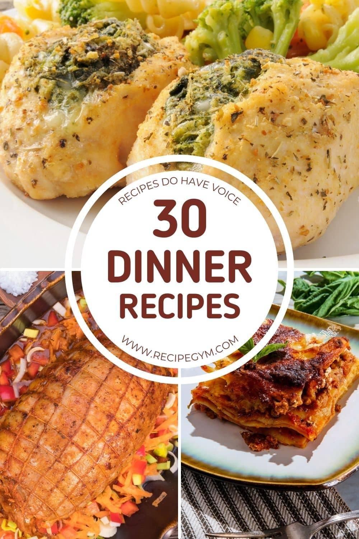 30 healthy dinner recipes