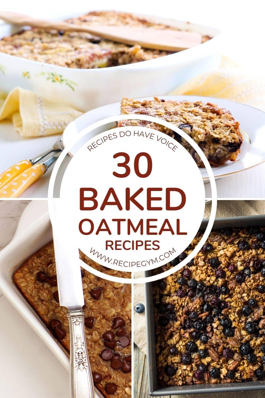 30 baked oatmeal recipes