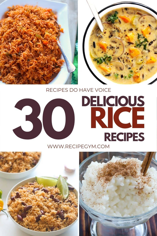Yummy rice recipes