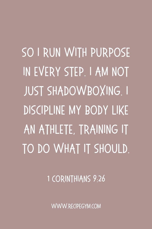 Fitness bible verses