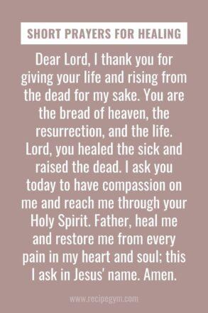 Short prayers for healing